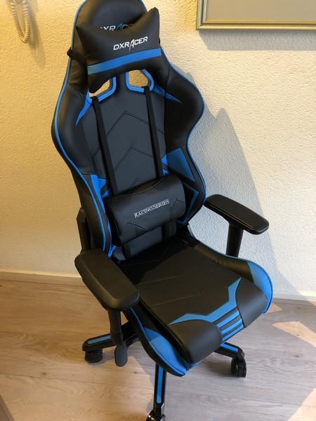 DXRacer Racing Pro Zwart/Blauw